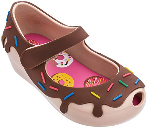 Melissa Mini Ultragirl Donut BB Ballet Shoes, Nude Brown, Size 7 Toddler