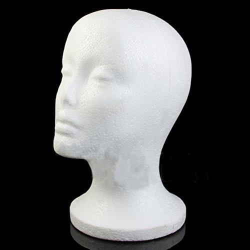 Gjyia weibliche Schaumperücke Haar Hut Brille Anzeige Schaufensterpuppe Puppe Styropor Kopf Modell