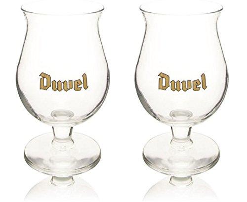 Duvel Biergläser und Bierdeckel, je 2 Stück