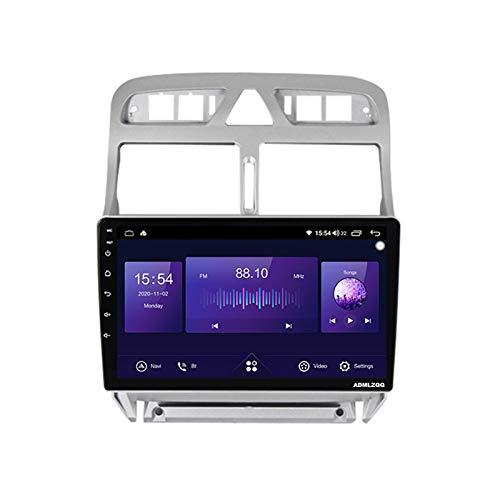ADMLZQQ 9 Pulgadas Android 10.0 2DIN Car Navigation Radio para Peugeot 307 2002-2013, GPS/Bluetooth/FM/RDS/Control del Volante/Cámara Trasera / 4G + WiFi,7862 (8core 6+128g)