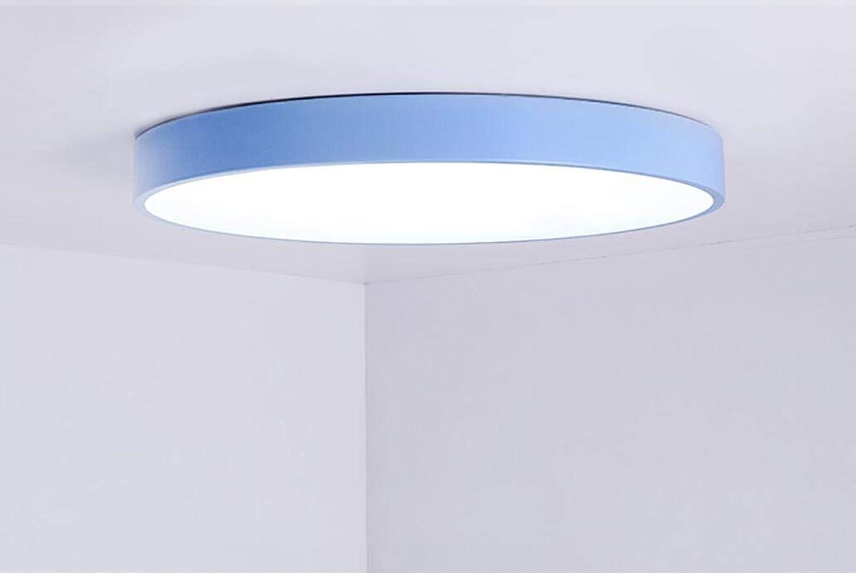 exclusivo ZIXUAA ZIXUAA ZIXUAA Dormitorio Lámpara de Techo Moderno Minimalista Ronda Lámpara de Techo Sala de Estar Led Habitación de los nios Lámparas de iluminación Azul cielo-blancolight-50cm  compras de moda online