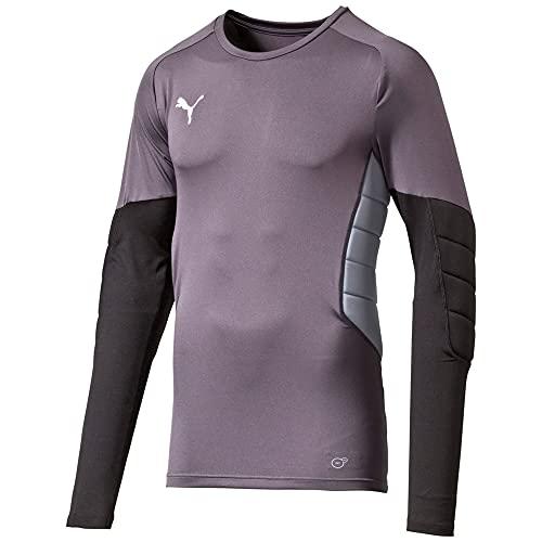 PUMA Herren Torwartshirt GK Padded Shirt, Ebony-Black-Tradewinds, M