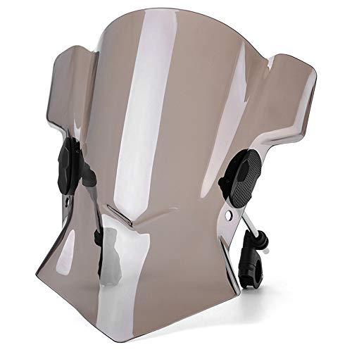 TOOGOO Universal Motorrad Einstellbare Windschutz Scheibe Windschutz Scheibe für MT03 MT07 MT09 für F800R R Nine T 1200RS R1200RT Motorrad Zubeh?R