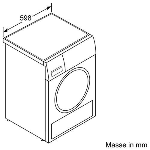 Siemens iQ700 WT44W5W0 iSensoric Premium Wärmepumpentrockner / A+++ / 8 kg / Großes Display mit Endezeitvorwahl / Selbstreinigungs-Automatik / weiß - 4