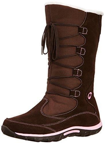Merrell J Moc Boot Wtpf, Boots fille - Multicolore (Brn/Pnk), 35 EU