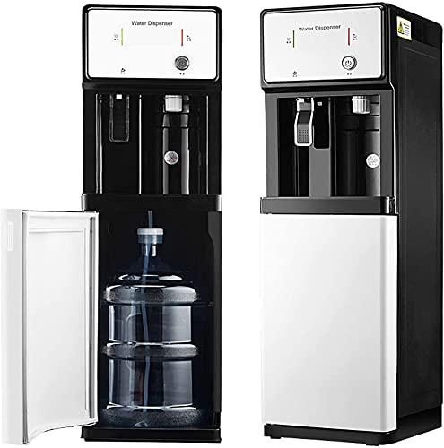 4U.SX - Distributore di acqua in bottiglia per acqua a pavimento con 3-secondi riscaldamento istantaneo, 3 impostazioni di temperatura- camera calda e fredda, ideale per ufficio e casa