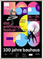 ポスター バウハウス 100 Jahre Bauhaus Festival 2019 Black 額装品 アルミ製ベーシックフレーム(ライトブロンズ)