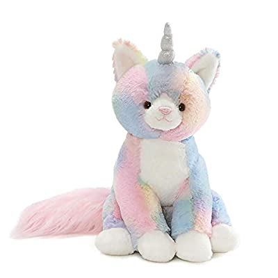 "GUND Rainbow Shimmer Caticorn Stuffed Animal Plush, Multicolor, 9"""