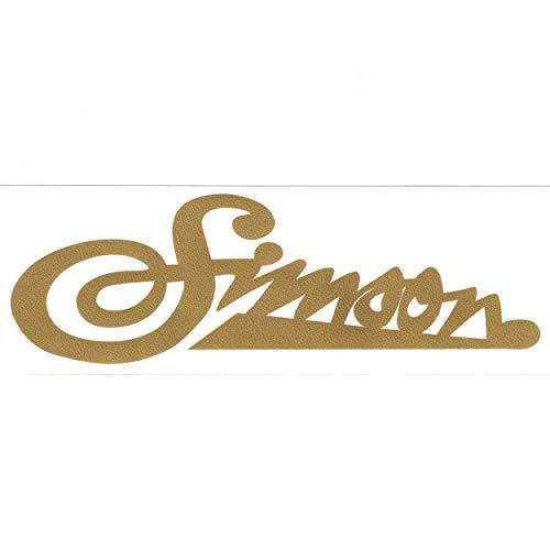 Klebefolie / Schriftzug - Simson weich gold