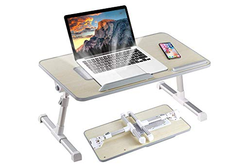 GLYHVXZ Adjustable Laptop Stand Portable Laptop Table with Foldable Legs Notebook Computer Desk for Laptop Reading and Writing Lap Tray for Eating in Bed Sofa Couch Floor