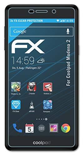 atFolix Schutzfolie kompatibel mit Coolpad Modena 2 Folie, ultraklare FX Bildschirmschutzfolie (3X)