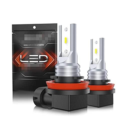 HSMIN H11 LED Luces De Niebla 4800LM H8 H9 H16JP LED Fog Bulbs Bulbs Lámparas Alta Potencia 12 CSP Fichas LED 6000K Luces De Coche Blanco Luz De Niebla (Socket Type : H11H8 H9 H16)