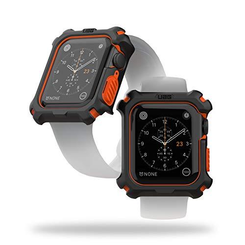 Urban Armor Gear Apple Watch Hülle für Apple Watch Series 5 (44mm) und Apple Watch Series 4 (44mm) (Rugged Case mit Snap-On-Design) - schwarz/orange