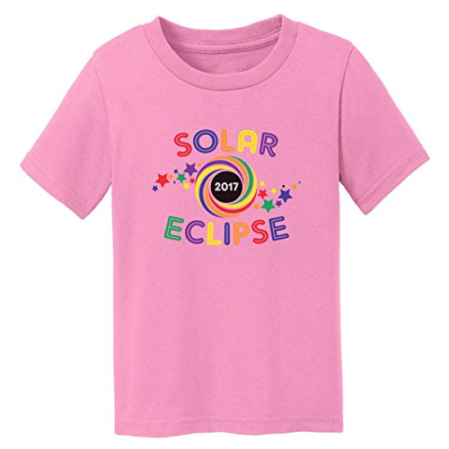 Digital T-Shirt Shop Baby-Boys 2017 Total Solar Eclipse Kids T-Shirt 2T Candy Pink