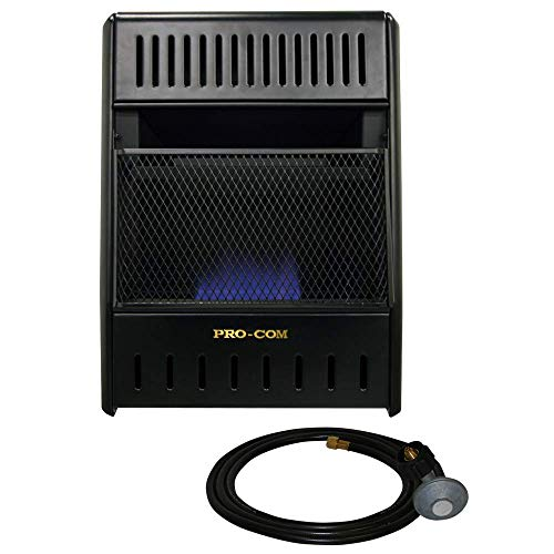 ProCom Liquid Propane Ventless Ice House Heater - 10,000 BTU, T-Stat,...