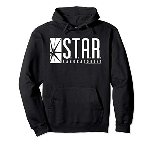 DC Comics Flash Star Labs Logo White Pullover Hoodie