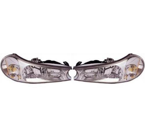 Fleetwood Revolution 2002-2007 RV Motorhome Pair (Left & Right) Replacement Front Headlights with Bulbs