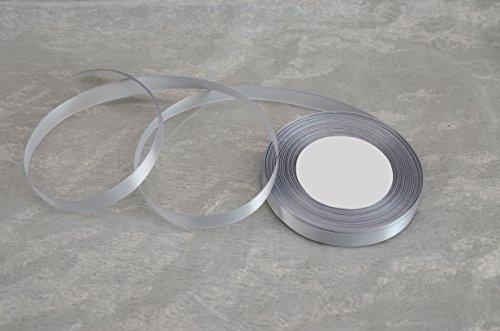 TARA-Dekoration 32m Satinband 12mm (0,06€ / m) / Deko Band Schleifenband Dekoband Geschenkband Hochzeit Komunion (139 - Silber)