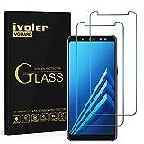 ivoler [2 Stücke] Panzerglas Schutzfolie Kompatibel für Samsung Galaxy A8 2018, 9H Festigkeit, Anti- Kratzer, Bläschenfrei, [2.5D R&e Kante]