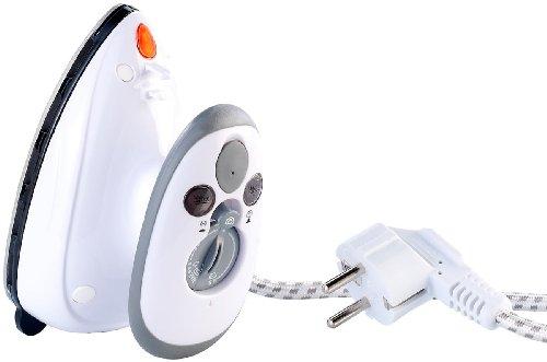 Sichler Haushaltsgeräte Mini Ferro: Ferro da stiro compatto per viaggi e vacanze, 110 e 230 volt (Mini ferro a vapore)