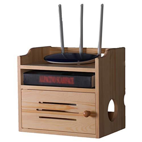 Schweberegale An Der Wand Montierte Router-Aufbewahrungsbox Desktop-Set-Top-Box-Rack Multifunktions-Router-Rack Für Das Wohnzimmer Zu Hause Blockieren Sie Das Signal Nicht