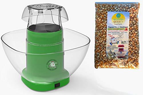 Family Time Popcornmaschine Airpop ohne Fett. Popcornautomat inkl. Mais, Behälter