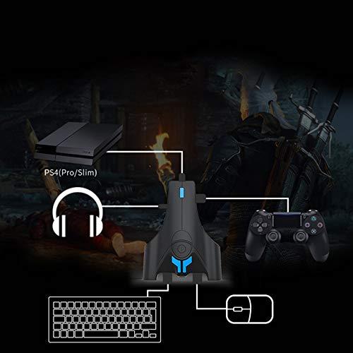 Toetsenbord En Muis Converter PS4, Toetsenbord En Muis Adapter Voor De Xbox, Toetsenbord En Muis Adapter Voor Nintendo Switch, Extra Hoofdtelefoonaansluiting, Drie USB Poorten