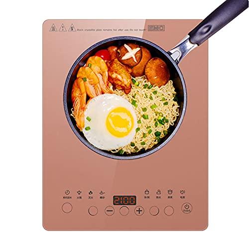 Placa Inducción Ultradelgado Placa De Inducción Portátil 10 Niveles De Potencia 8 Funciones De Cocción, Cocina De Inducción Eléctrica 2100W, Para Casa Comercial Cocinando