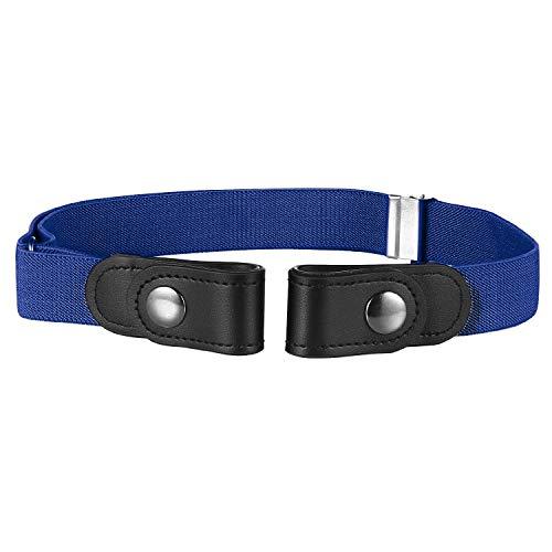Buyless Fashion Kids Boys Toddler No Buckle Adjustable Elastic Dress Stretch Belt - 5098-Royal-Blue