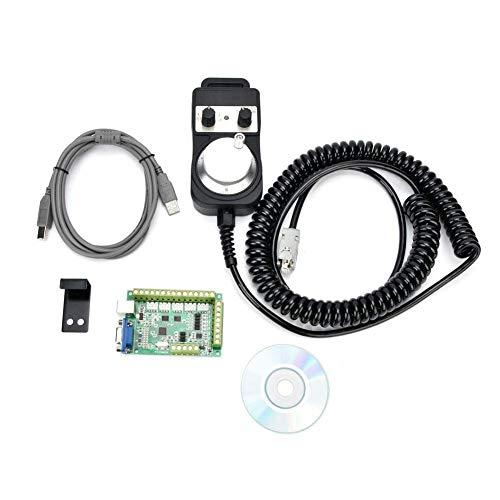 GUOCAO MACH3 Kit de controlador USB, placa de interfaz USB MACH3, control de movimiento CNC de 5 ejes con herramientas de volante eléctrico