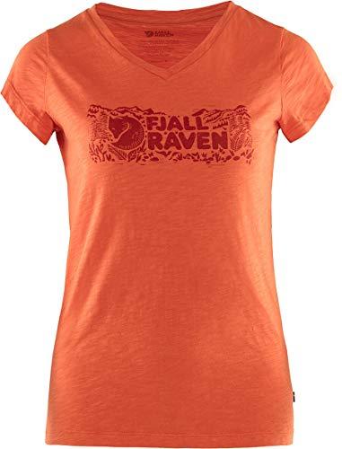 FJALLRAVEN Logo Stamp T-Shirt W Tricot Femme, Rowan Rouge, L