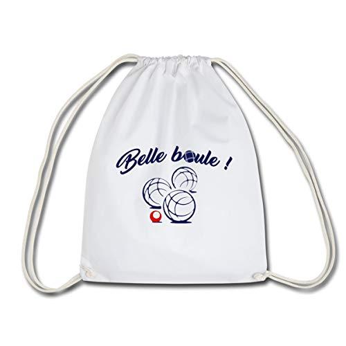 Spreadshirt Belle Boule Pétanque Sac À Dos Cordon, blanc