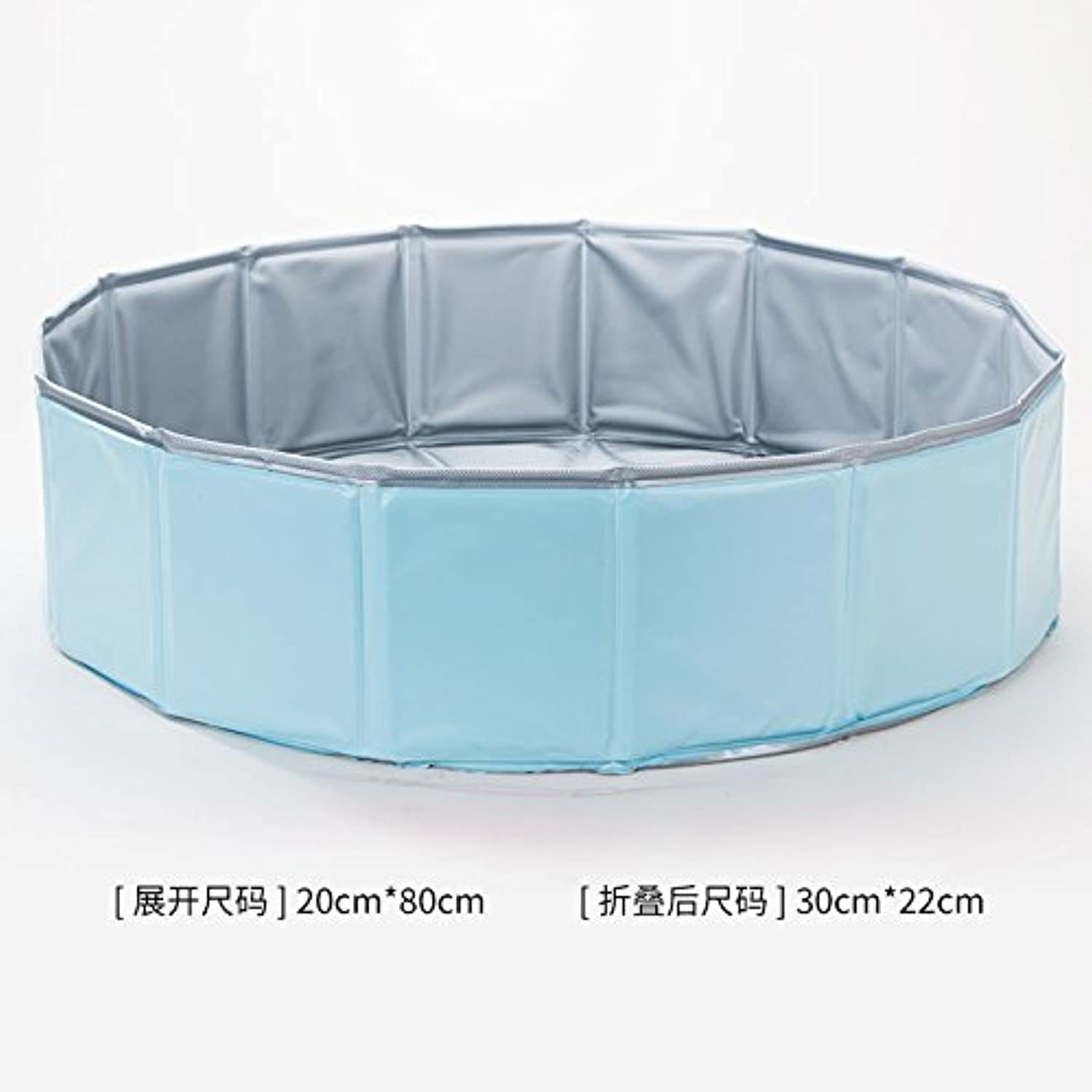 Puppy Massage Basin, Bathtub Folding pet Bath tub, Dog Swimmer, pet Round Bath Basin,Sky bluee