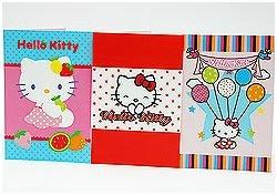 4 Karten HELLO KITTY Glückwunschkarte Geburtstagskarte