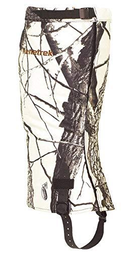 Kenetrek Men's Waterproof Breathable Quiet Hunting Gaiters Shoe, Realtree Snow Camo, Large