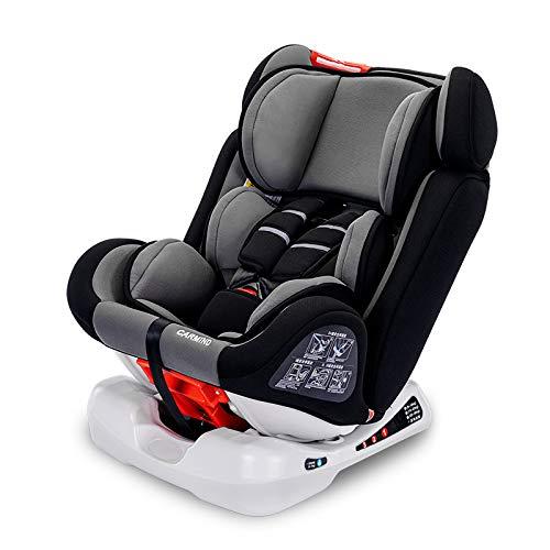 TYT niño,Silla de coche,con isofix,grupo 0+/1/2/3,Reclinable,Onboard,(0-36 kg,0-12 años) Bebé Asiento/Gray Reflective(Seat belt) / 38 * 40 * 65cm