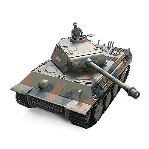 Tletiy RC tanque pesado alemán Leopard 1:16 2.4G control remoto del tanque...