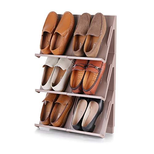 Stark Schuhregal Stereo-Schuhregal Stapelbares Schuhregal DIY-Schuhregal zum Aufhängen Aufbewahren von 6 Paar Schuhen Badeschuhe Aufbewahrung zu Hause