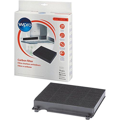 wpro CHF15/1 - Filter für Dunstabzugshauben/ Aktivkohlefilter Typ 15 für Umluftbetrieb/ antibakteriell/ geruchsneutralisierend