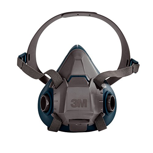 3M Rugged Comfort Half Facepiece Reusable Respirator 6502/49489, Cool Flow Valve, Silicone, Welding, Sanding, Cleaning, Grinding, Assembly, Machine Operations, Medium