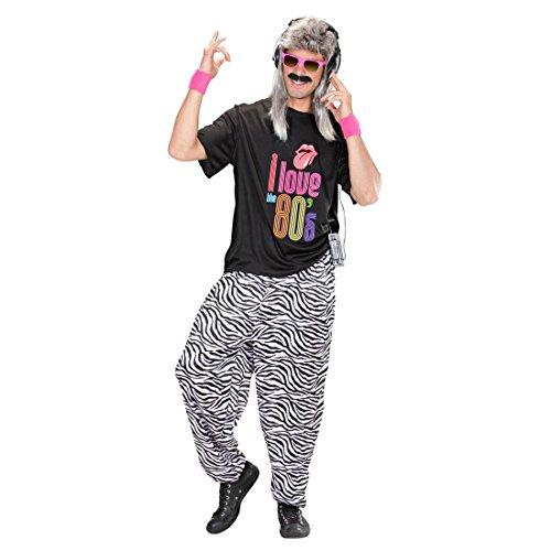 NET TOYS Zèbre Pantalon de Jogging Années 80 Pantalon de Sport Tenue de Sport Pantalon 80s Tenue Déguisement Tenue de Jogging Beauf Costume Vêtement M à L / 48 à 54