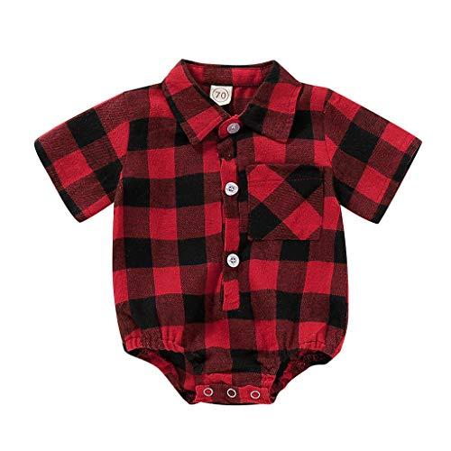 Cuteelf Säugling Baby Jungen Drucken Tops Romper + Vest + Pants Outfits Kleider Set 6-24Monat