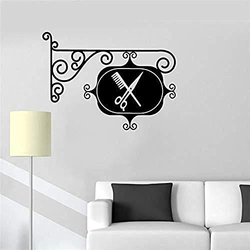 Zbzmm muursticker vinyl muur R vinyl teken kappertje kapsalon stylist kapper deur R kamer S decor verwijderbaar 36 * 57 cm