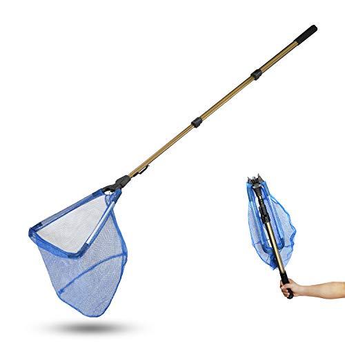 SROOD Pool Skimmer Net with 50' Telescopic Pole Leaf Skimmer Mesh Rake...