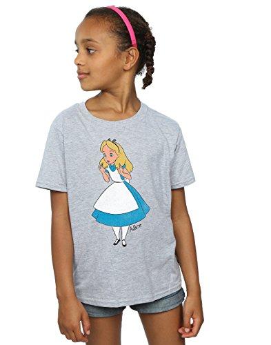 Disney niñas Alice In Wonderland Classic Alice Camiseta 7-8 Years Gris Sport