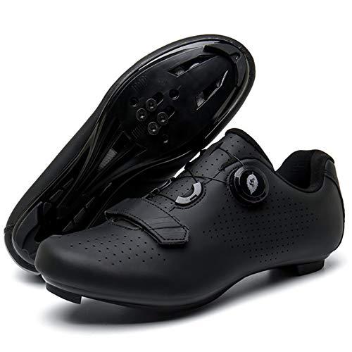 YQSHOES Zapatillas Ciclismo Carretera para Hombre Zapatillas Bicicleta Montaña Compatibles con Tacos...