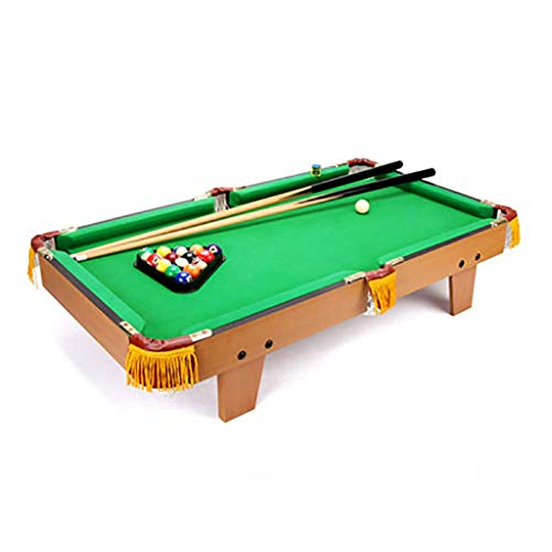 %23 OFF! TriGold Wooden Mini Pool Table,Portable Billiards Table with Balls and Sticks,Fun Tabletop ...