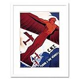 Wee Blue Coo War Spanish Civil CNT Communist Heroes Spain AD Framed Art Print F97X1905 Decoración de la Pared del Cartel Enmarcado impresión 9x7 Pulgadas