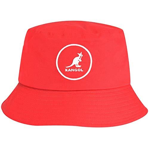 Kangol Cotton Bucket Sombrero de Copa Baja, Rojo (Rojo), M Unisex Adulto