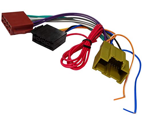 Aerzetix adapter kabelboom stekker ISO voor autoradio Maakt het aansluiten van een standaard post op het plaats van het originele audiosysteem C43432